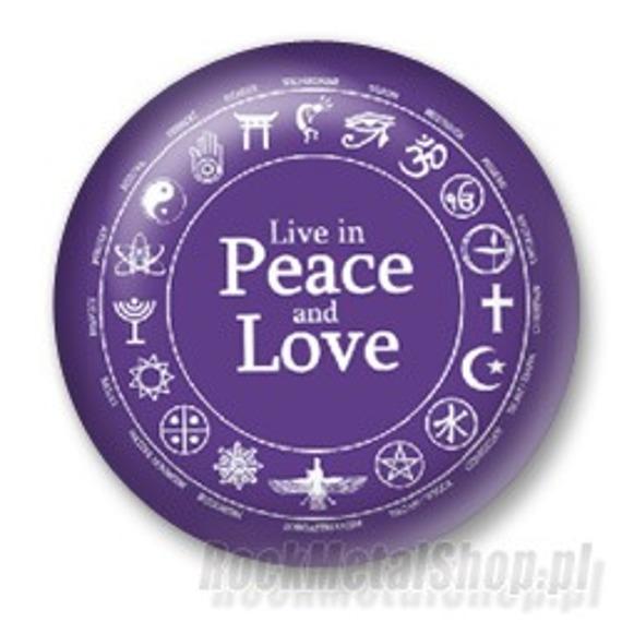 kapsel LIVE IN PEACE AND LOVE średni
