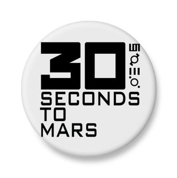 kapsel biały 30 SECONDS TO MARS - LOGO