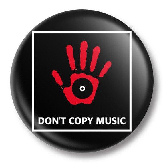kapsel średni DON'T COPY MUSIC Ø38mm