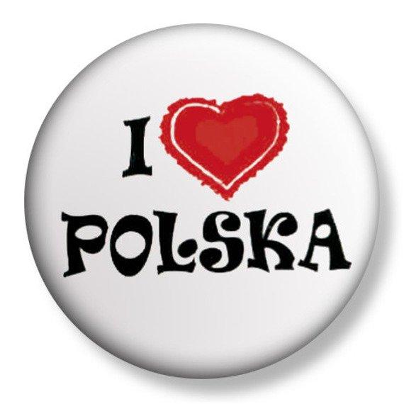kapsel średni I LOVE POLSKA Ø38mm