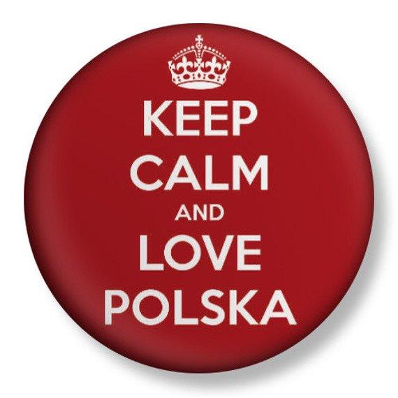 kapsel średni KEEP CALM AND LOVE POLSKA Ø38mm