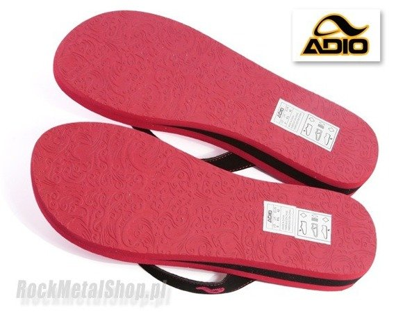 klapki ADIO  (VEGA) (ADIO RED/BLACK)