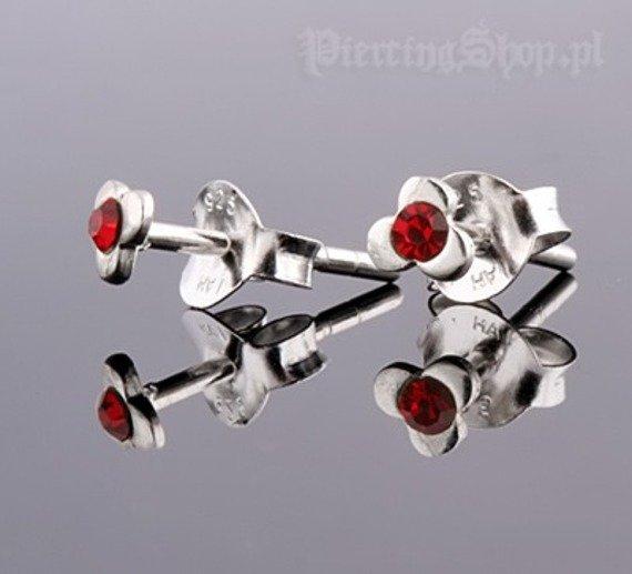 kolczyki do uszu KWIATEK RED [STF-368]