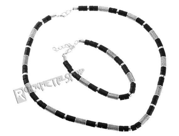 komplet koralików BLACK SILVER 7