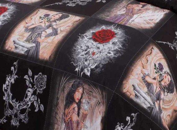 komplet pościelowy STORY OF THE ROSE, kołdra (200*200) + 2 poduszki