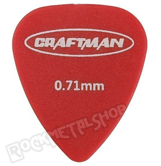 kostka gitarowa CRAFTMAN - MATTE ABS RED WP-600Q