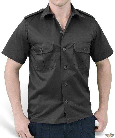 koszula US HEMD 1/2 BLACK  SURPLUS
