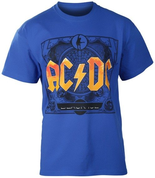 koszulka AC/DC - BLACK ICE niebieska