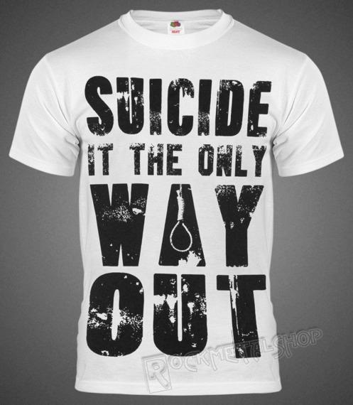 koszulka BLACK ICON - SUICIDE (MICON148 WHITE)