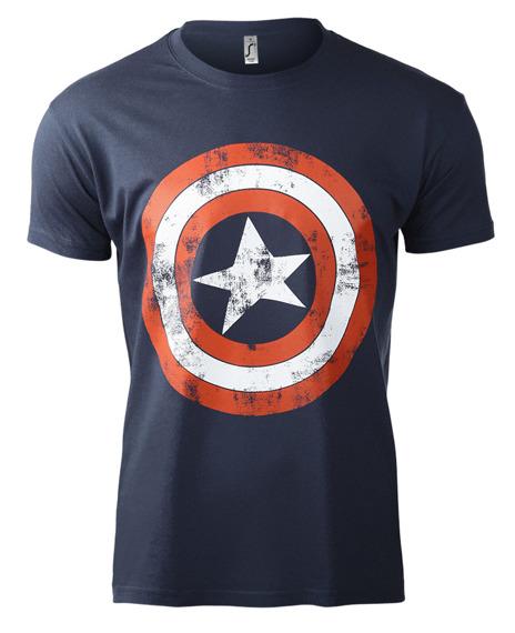 koszulka CAPTAIN AMERICA - DISTRESSED SHIELD