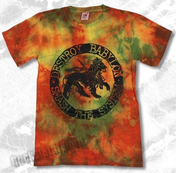 koszulka DESTROY BABYLON barwiona