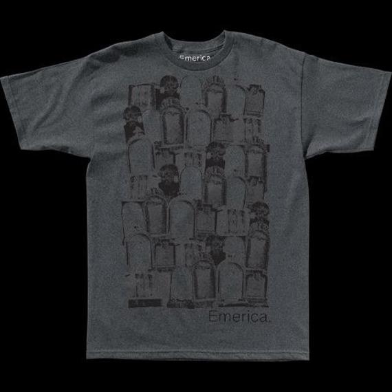 koszulka EMERICA - STACKED DEATH (CHAR/HEATHER) 09'