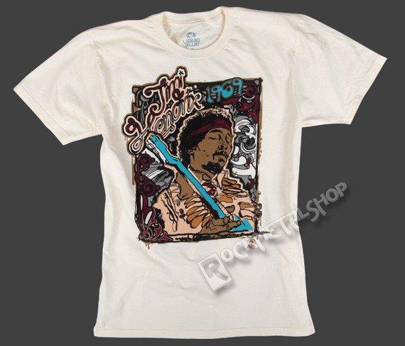 koszulka JIMI HENDRIX - BLUE RIFF kremowa