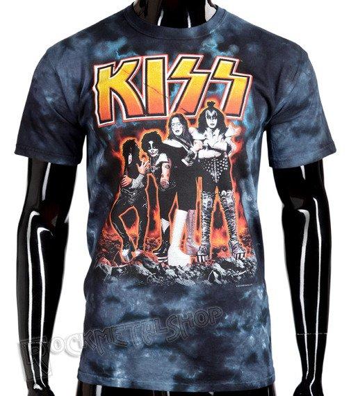 koszulka KISS - HOTTER THAN HELL, barwiona