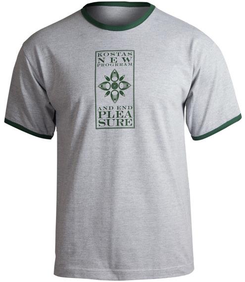 koszulka KOSTAS NEW PROGRRAM - AND END PLEASURE (szara)