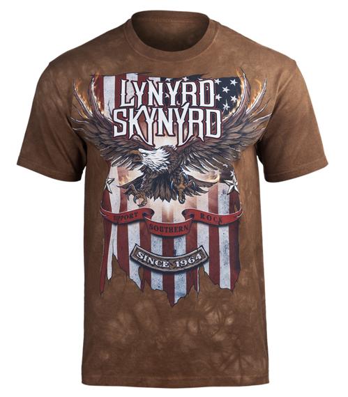 koszulka LYNYRD SKYNYRD - SUPPORT SOUTHERN ROCK, barwiona