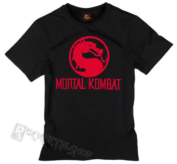 koszulka MORTAL COMBAT - DRAGON LOGO czarna