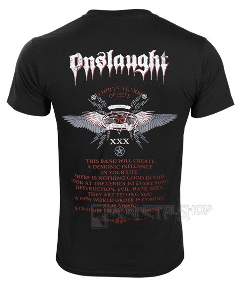 koszulka ONSLAUGHT - POWER FROM HELL 30TH ANNIVERSARY