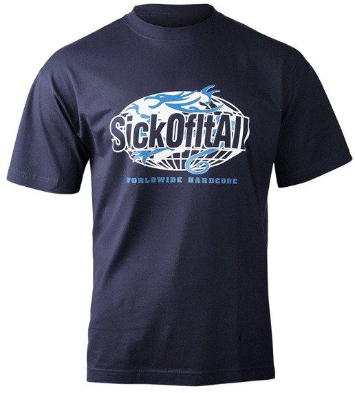 koszulka SICK OF IT ALL - WORLDWIDE HARDCORE granatowa
