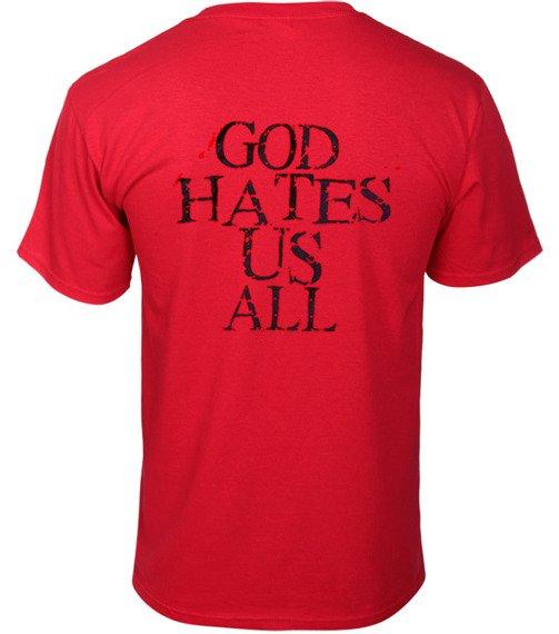 koszulka SLAYER - GOD HATES US ALL czerwona