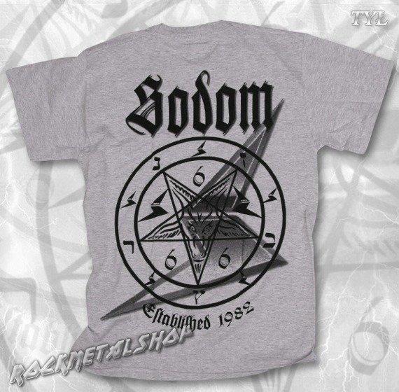 koszulka SODOM - WITCHING METAL szary melanż