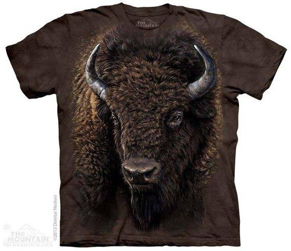 koszulka THE MOUNTAIN - AMERICAN BUFFALO, barwiona