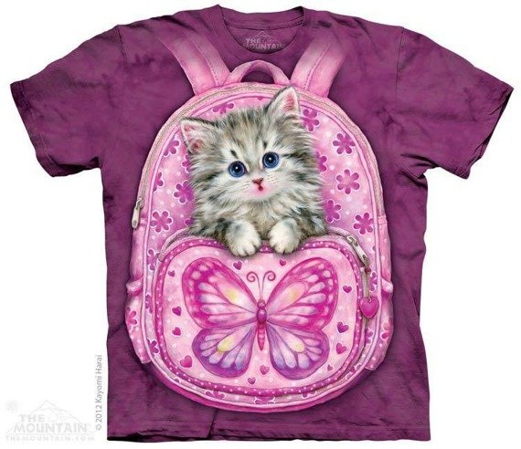 koszulka THE MOUNTAIN - BACKPACK KITTY, barwiona