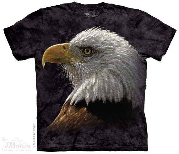 koszulka THE MOUNTAIN - BALD EAGLE PORTRAIT, barwiona
