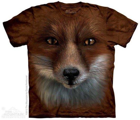 koszulka THE MOUNTAIN - BIG FACE FOX, barwiona