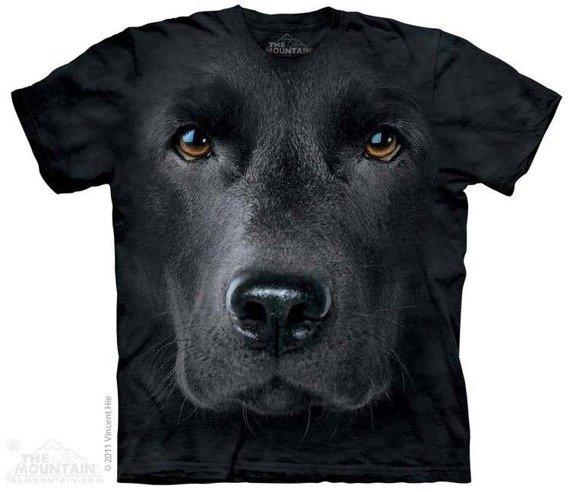 koszulka THE MOUNTAIN - BLACK LAB FACE, barwiona