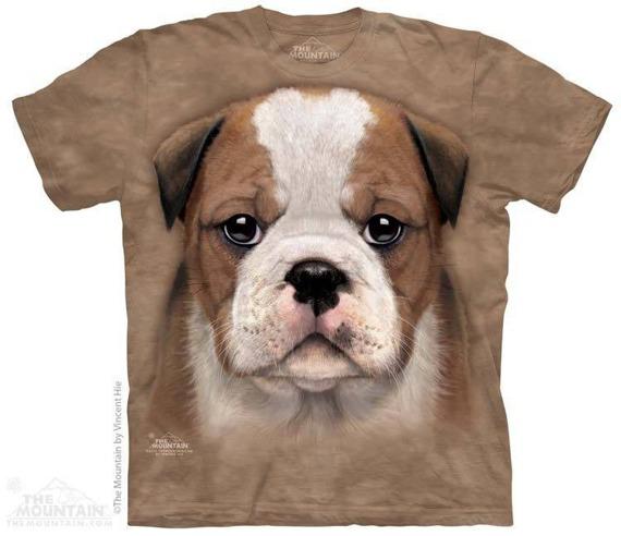 koszulka THE MOUNTAIN - BULLDOG PUPPY, barwiona