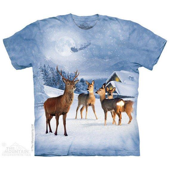 koszulka THE MOUNTAIN - DEER IN WINTER, barwiona