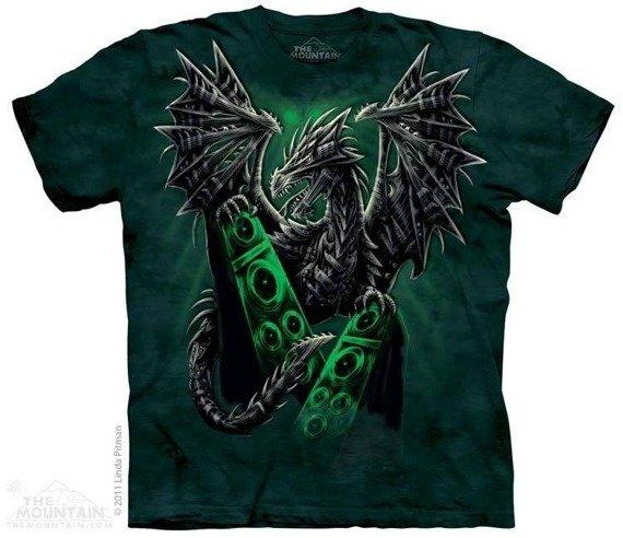 koszulka THE MOUNTAIN - ELECTRIC DRAGON, barwiona