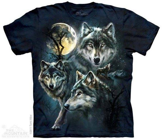 koszulka THE MOUNTAIN - MOON WOLVES, barwiona