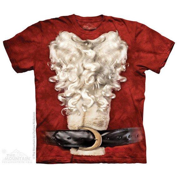 koszulka THE MOUNTAIN - SANTA SUIT, barwiona