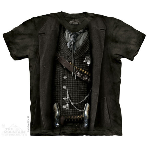 koszulka THE MOUNTAIN - THE SHERIFF AMERICANA, barwiona