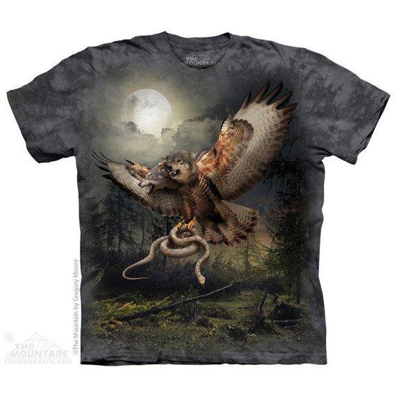 koszulka THE MOUNTAIN - TWO HEADED WOLFALCON, barwiona