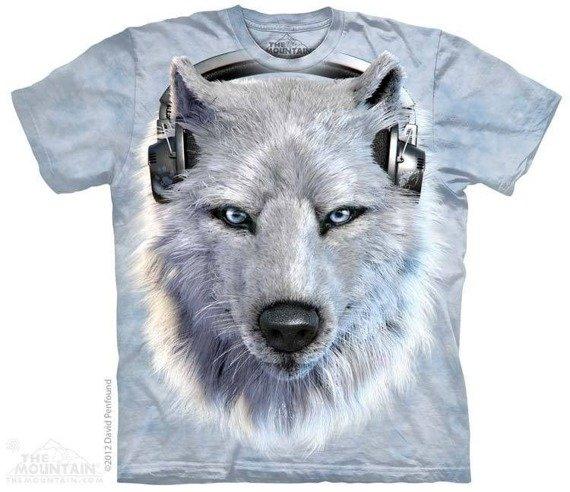 koszulka THE MOUNTAIN - WHITE WOLF DJ, barwiona