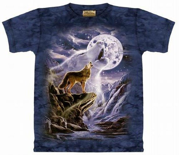 koszulka THE MOUNTAIN - WOLF SPIRIT MOON