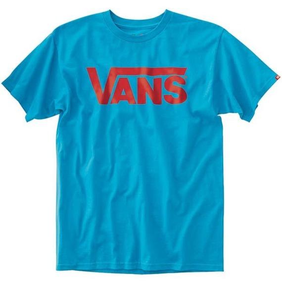 koszulka VANS - CLASSIC (TURQUOISE/RED)