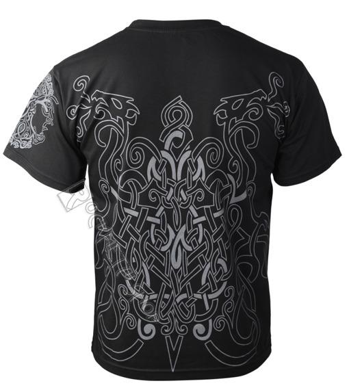 koszulka VIKING - ODIN & DRAKKARS czarna