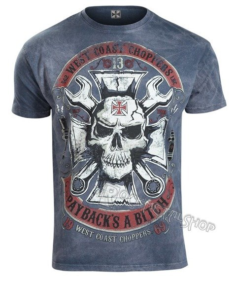 koszulka WEST COAST CHOPPERS - MECHANIC vintage blue