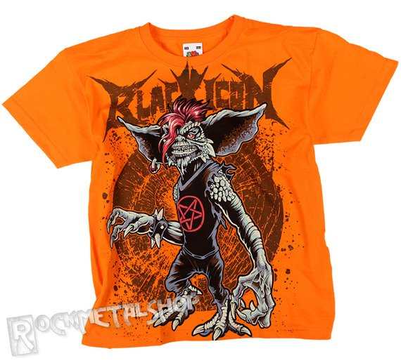 koszulka dziecięca BLACK ICON - GREMLIN pomarańczowa