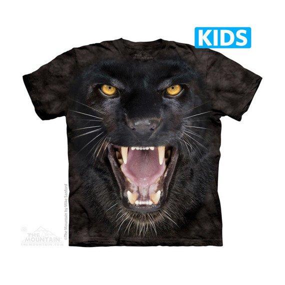 koszulka dziecięca THE MOUNTAIN - AGGRESSIVE PANTHER , barwiona