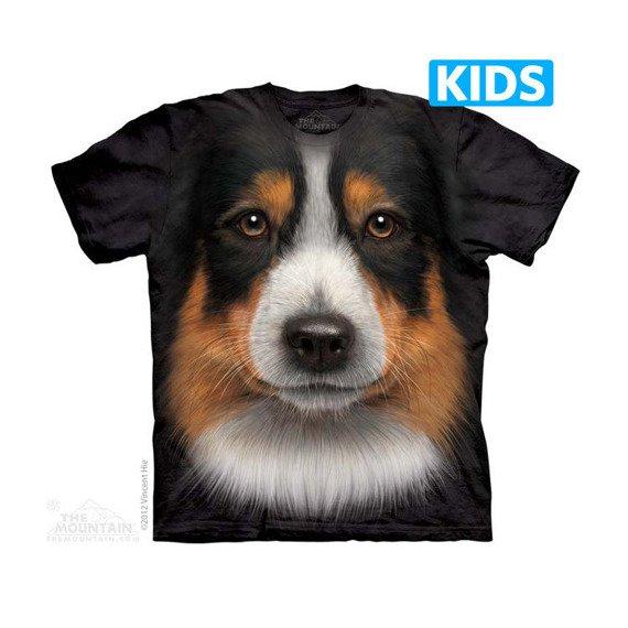 koszulka dziecięca THE MOUNTAIN - AUSTRALIAN SHEPHERD, barwiona