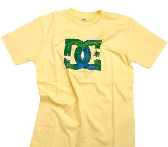 koszulka  męska DC - Yams (pale yellow) żółta