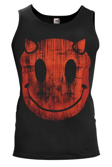 koszulka na ramiączkach DEVIL SMILEY