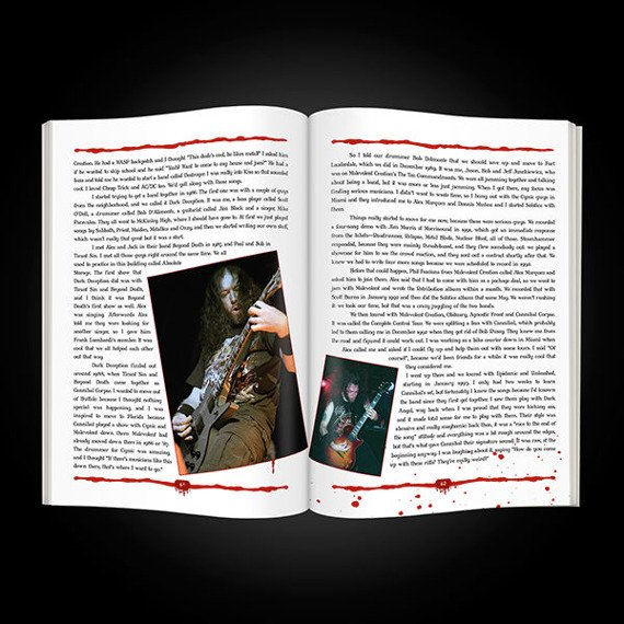 książka CANNIBAL CORPSE - BIBLE OF BUTCHERY: THE OFFICIAL BIOGRAPHY, wersja anglojęzyczna