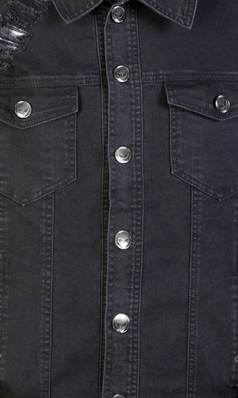 kurtka DISTURBIA - NOIR DENIM, jeansowa