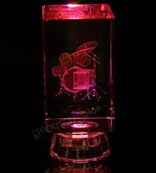 lampka / figurka podświetlana PERKUSJA z kryształu